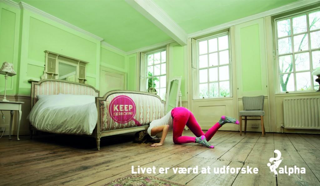Plakat: Livet skal udforskes - seng-medium
