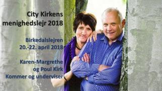 Menighedslejr 2018. Karen-Margrethe og Poul Kirk underviser